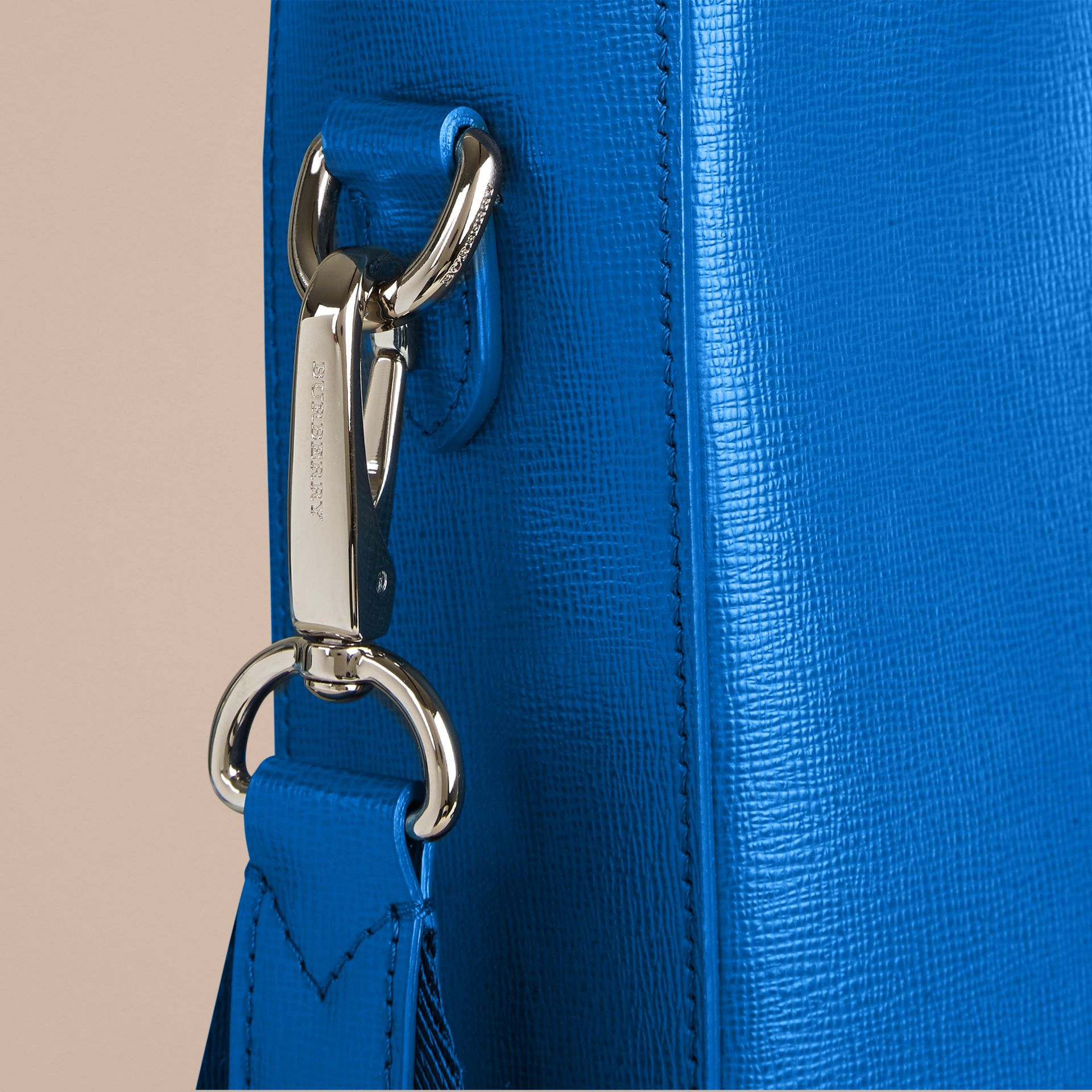 Mineral blue London Leather Tote Bag Mineral Blue - gallery image 5