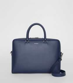 509faed51a1 London Leather Briefcase in Navy