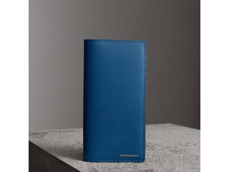 London Leather Continental Wallet in Deep Blue - Men | Burberry United States - cell image 4