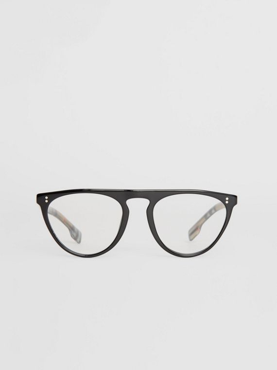 Keyhole D-shaped Optical Frames in Black
