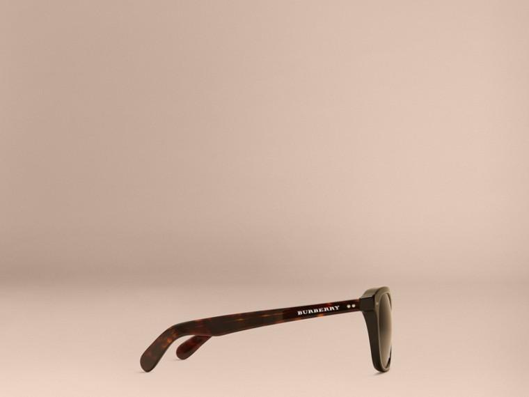 Black Square Frame Sunglasses Black - cell image 4