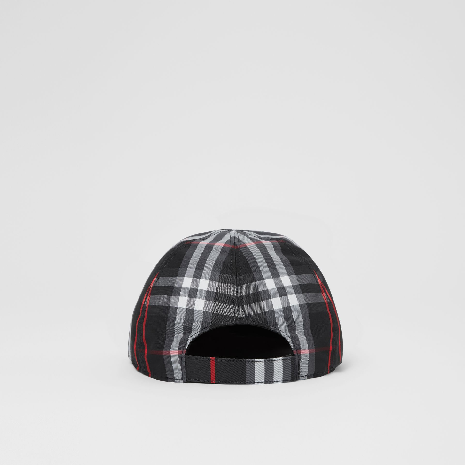 Check Baseball Cap in Black - Children | Burberry United Kingdom - gallery image 4