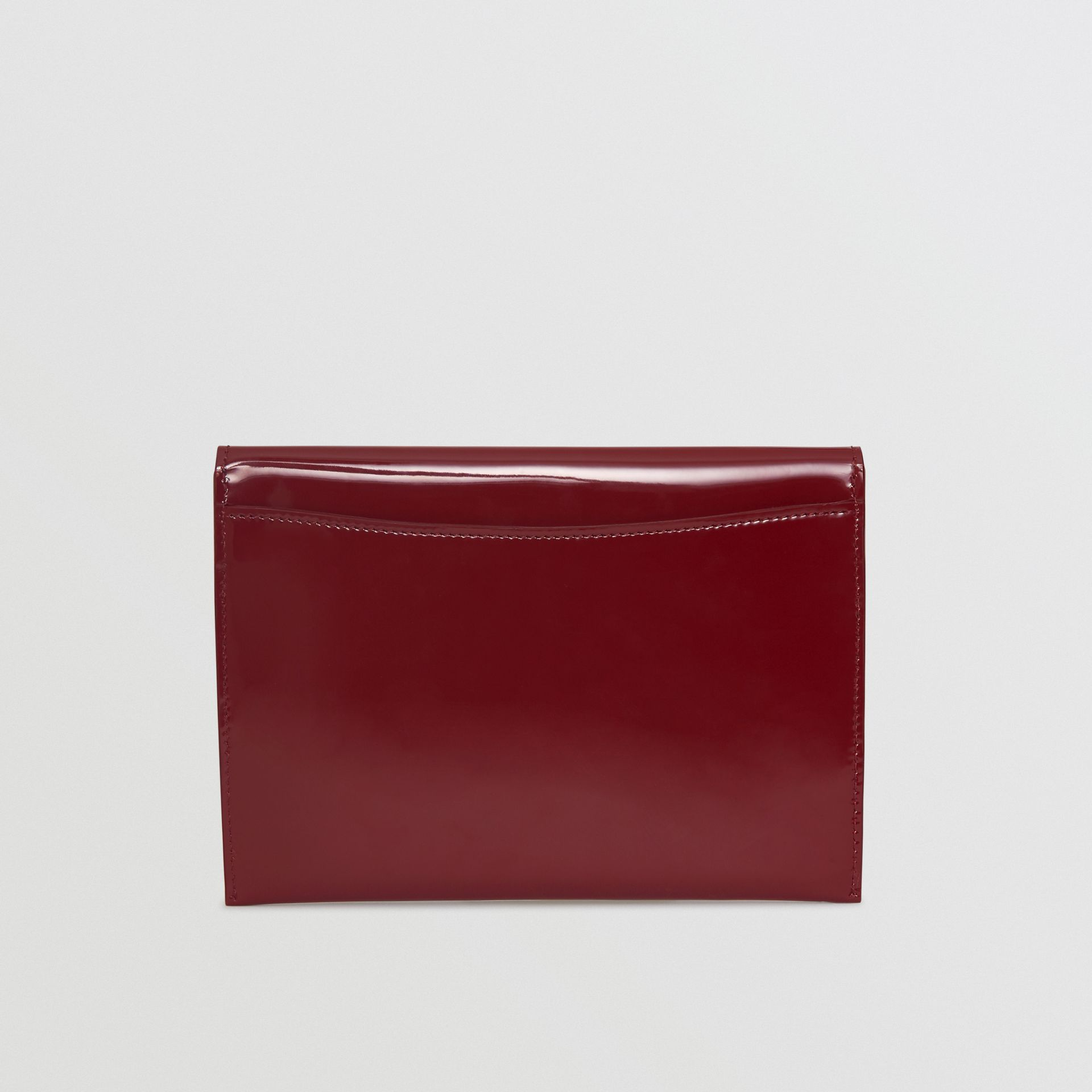 D-ring Patent Leather Pouch with Zip Coin Case in Crimson - Women | Burberry - gallery image 5