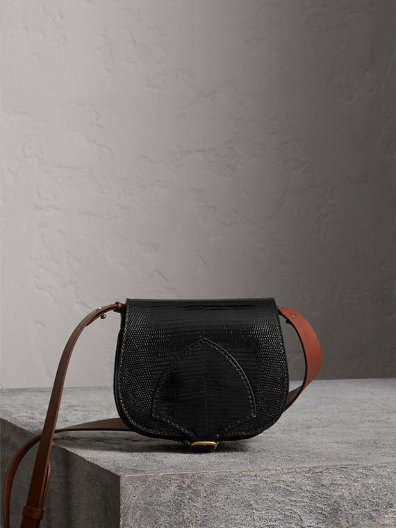 The Satchel in Lizard in Black