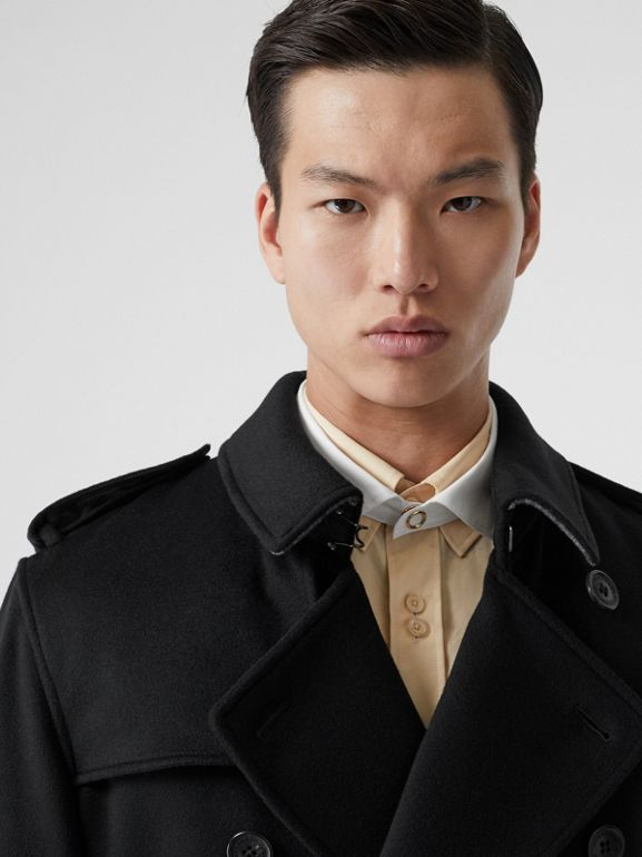 Cashmere Trench Coat in Black - Men | Burberry Australia - cell image 1