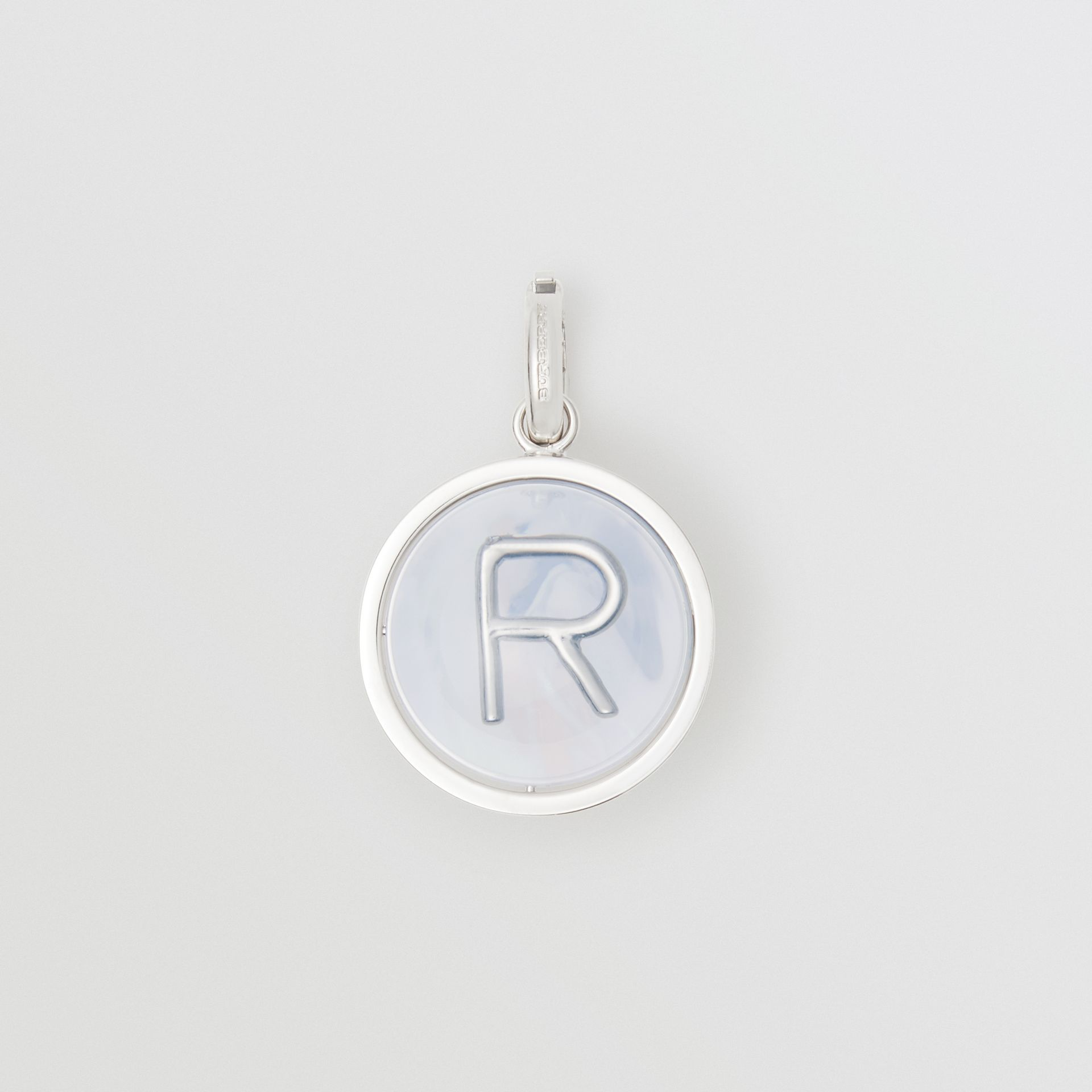 Marbled Resin 'R' Alphabet Charm in Palladio/nacre - Women | Burberry Australia - gallery image 0