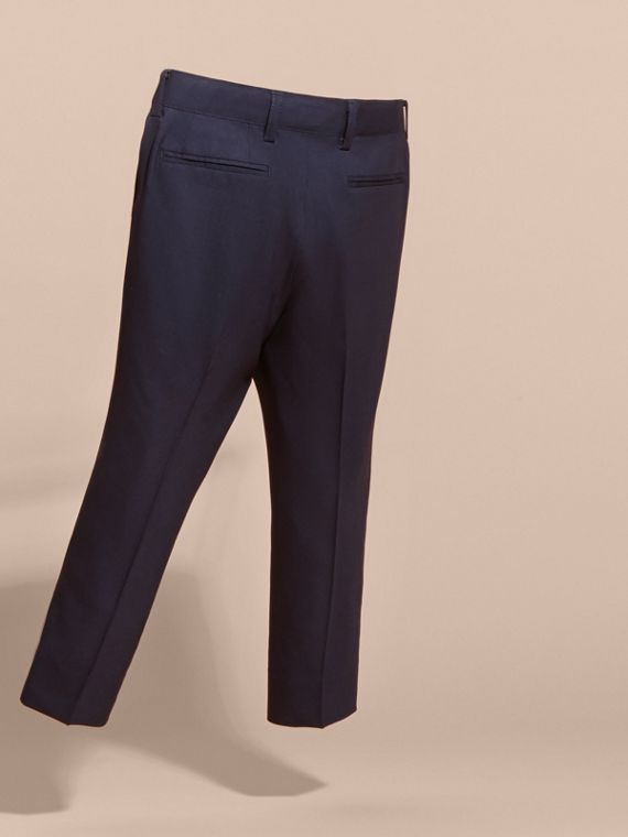Navy Tailored Wool Trousers Navy - cell image 3