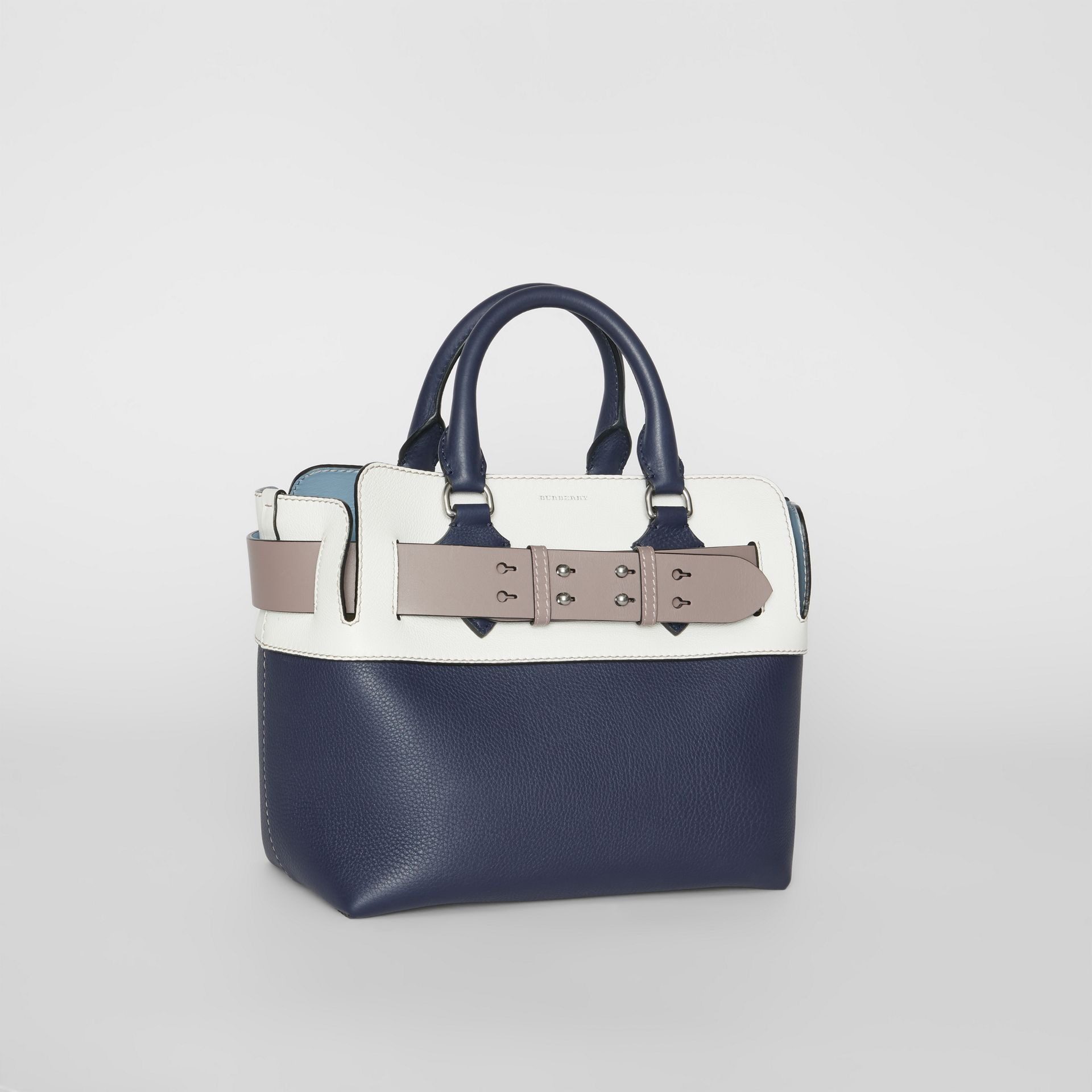 The Small Quadri-tone Leather Belt Bag in Regency Blue/chalk White - Women | Burberry - gallery image 6