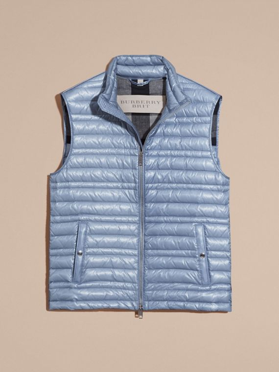 Pale blue Lightweight Down-filled Gilet Pale Blue - cell image 3