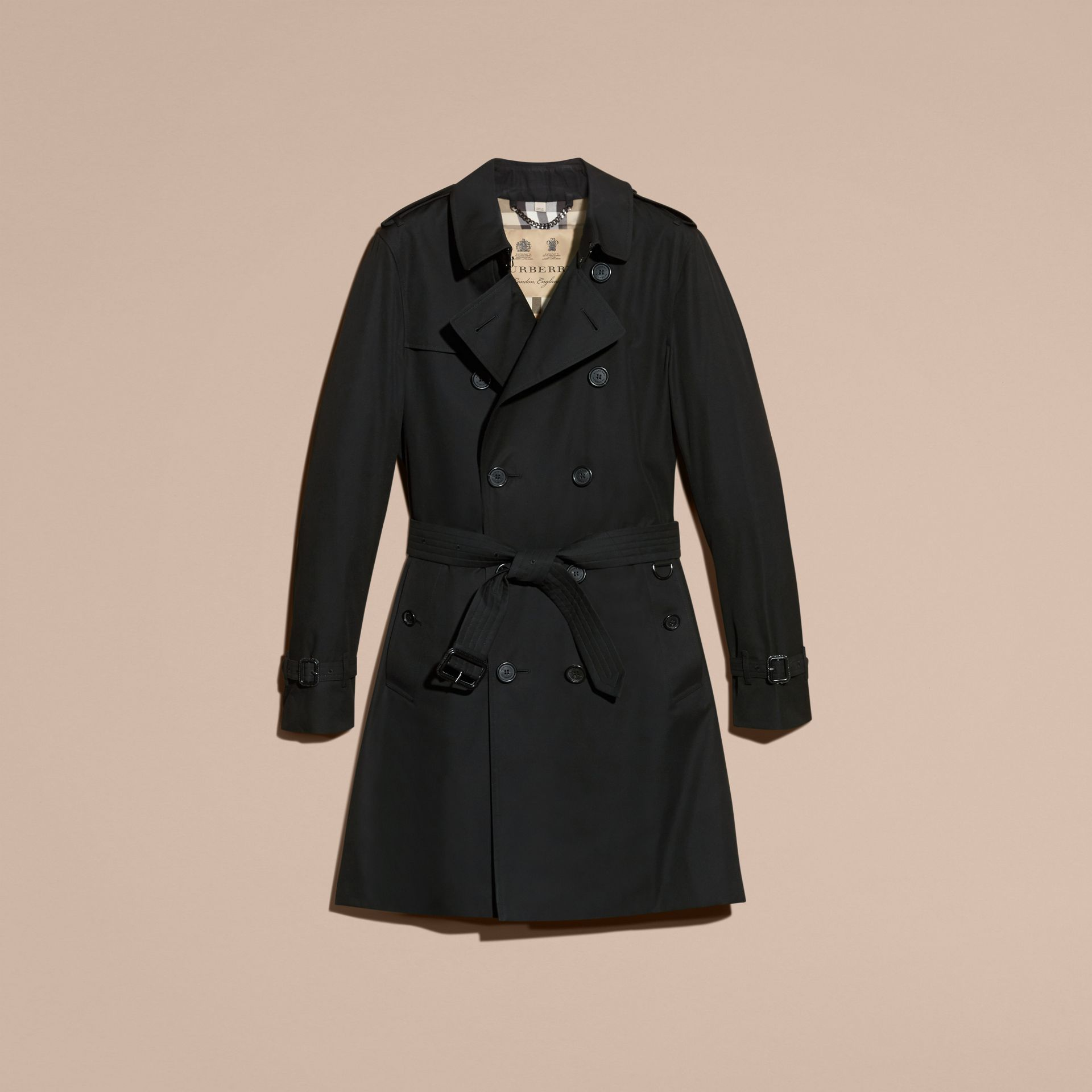Black The Sandringham – Long Heritage Trench Coat Black - gallery image 4