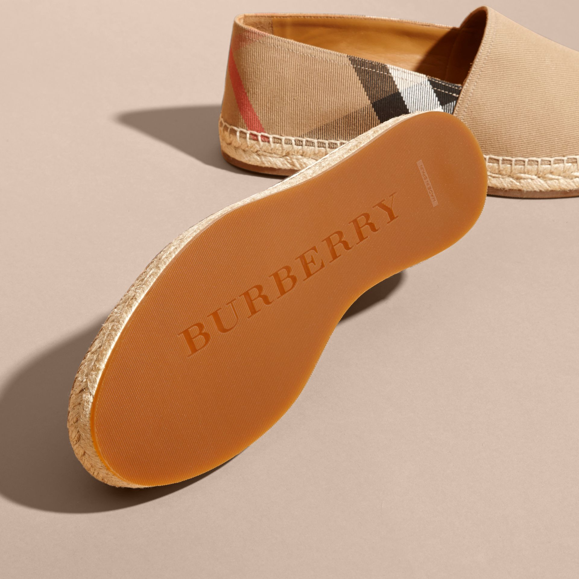 Canvas Check Espadrilles - Men | Burberry - gallery image 5
