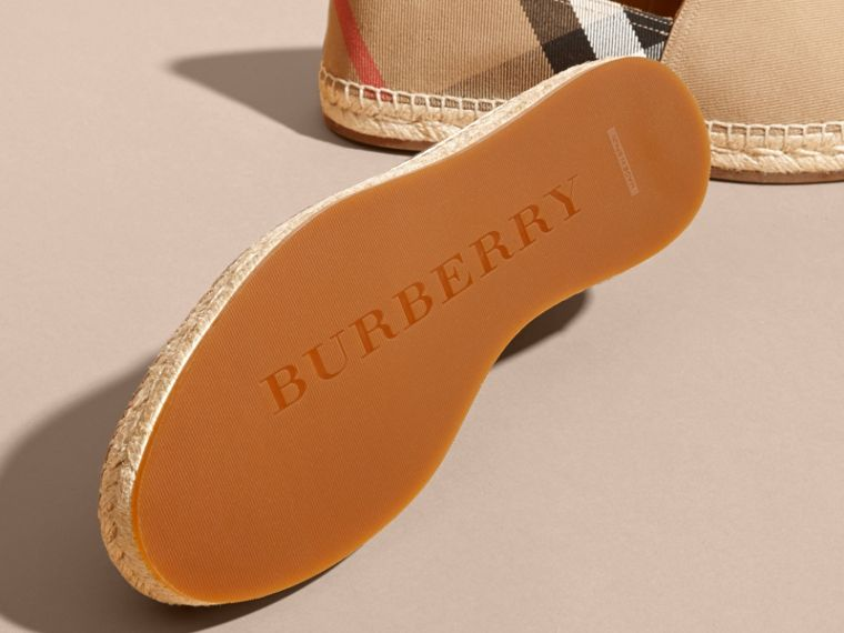 Canvas Check Espadrilles in Classic - Men | Burberry - cell image 4