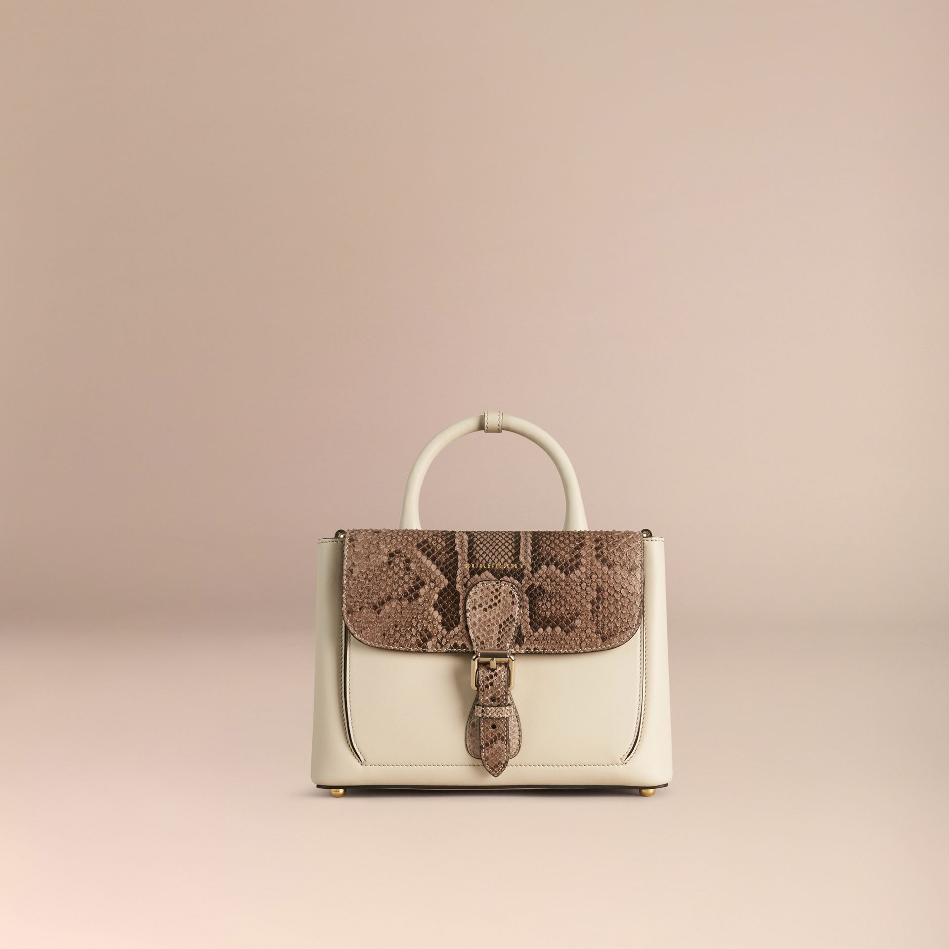 The Small Saddle Bag in Smooth Leather and Python - gallery image 7