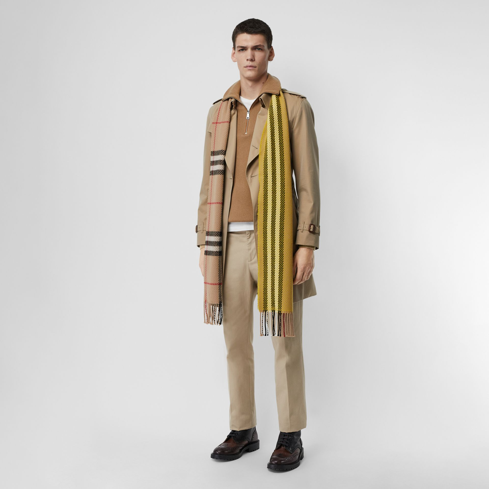 Rib Knit Cashmere Half-zip Sweater in Camel - Men | Burberry United Kingdom - gallery image 4