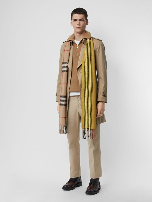 Rib Knit Cashmere Half-zip Sweater in Camel - Men | Burberry United Kingdom - cell image 3