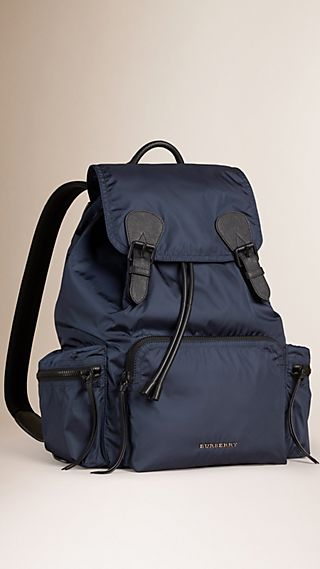Zaino The Rucksack grande in nylon tecnico e pelle