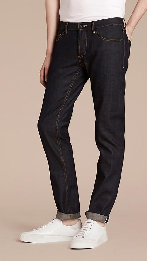 Indigo Skinny Fit Indigo Selvedge Jeans - Image 2