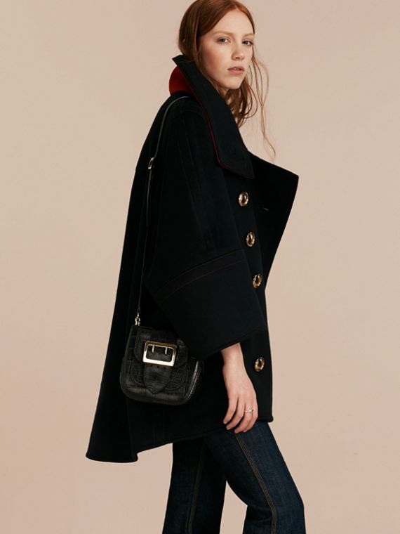 Black The Small Square Buckle Bag in Alligator Limited Edition - cell image 3
