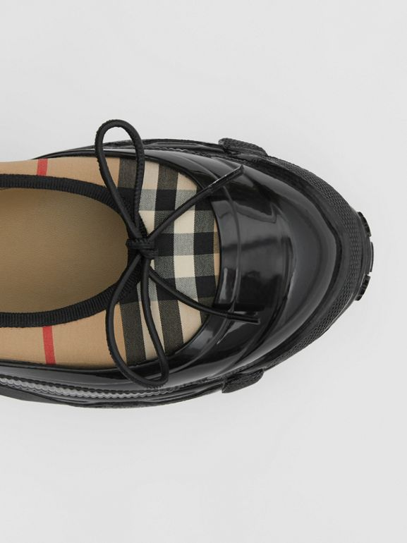 Overshoe Detail Vintage Check Cotton Flats in Archive Beige - Women | Burberry United Kingdom - cell image 1