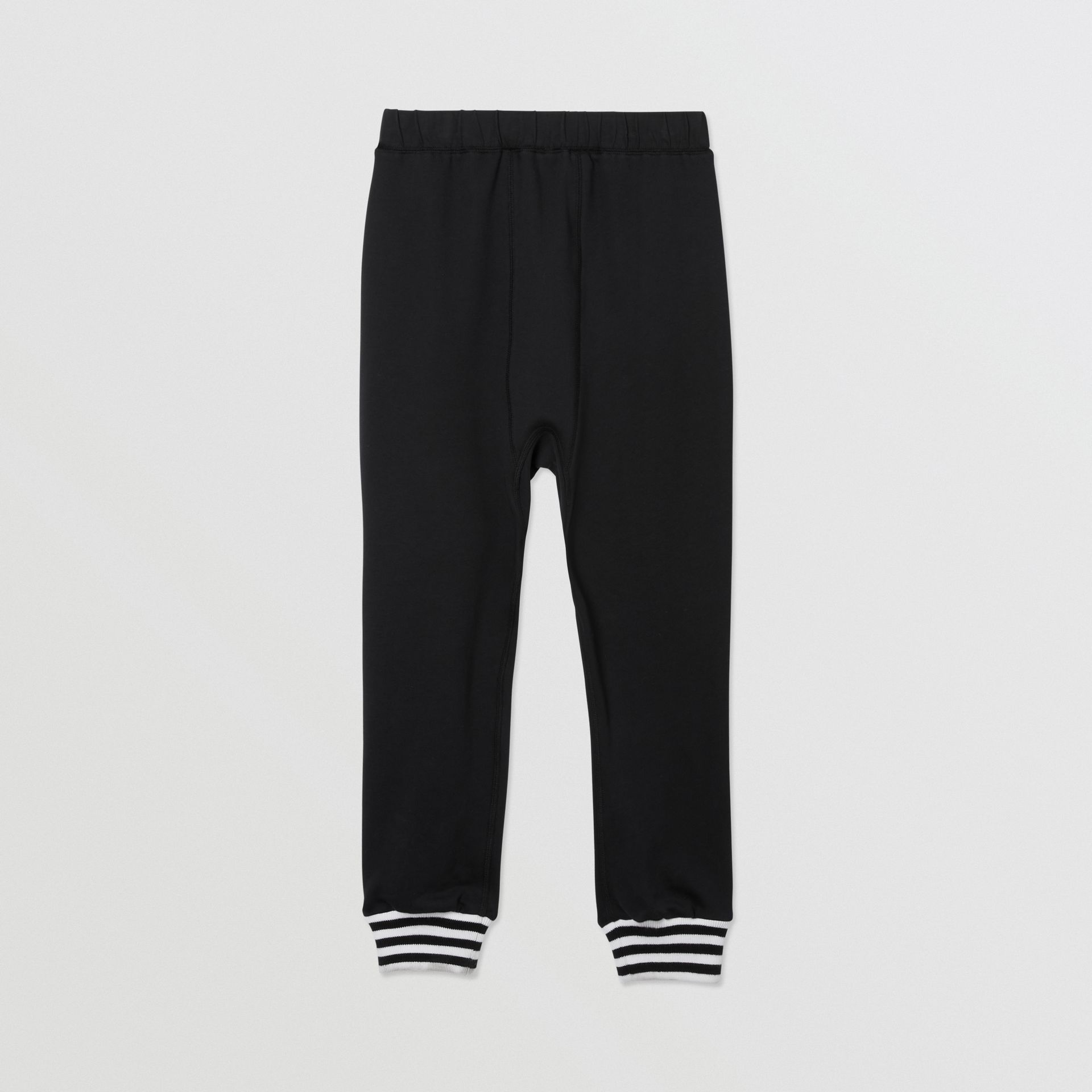Kingdom and Star Print Cotton Trackpants in Black | Burberry United Kingdom - gallery image 3