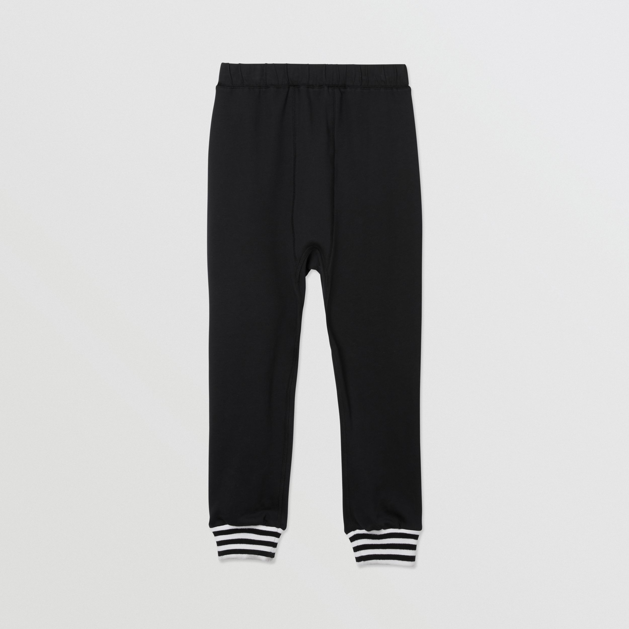 Kingdom and Star Print Cotton Trackpants in Black | Burberry - 4