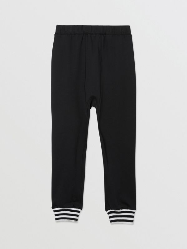 Kingdom and Star Print Cotton Trackpants in Black | Burberry United Kingdom - cell image 3