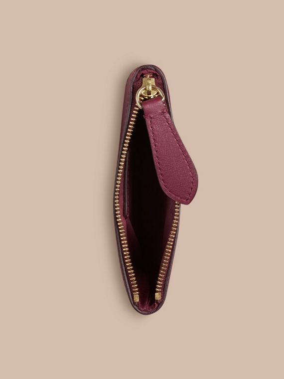 Dark plum Horseferry Check and Leather Pouch Dark Plum - cell image 3
