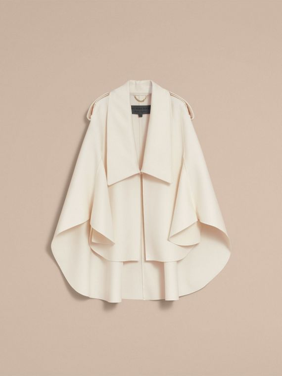 Tailored Wool Cashmere Cape in White - Women | Burberry - cell image 2