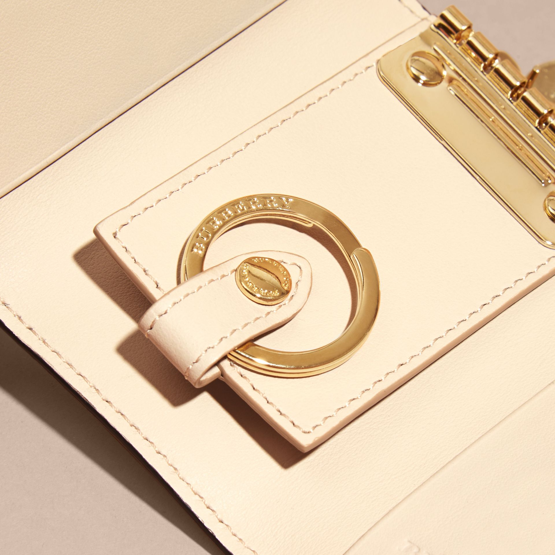 Grainy Leather Key Holder in Limestone - Women | Burberry Singapore - gallery image 2