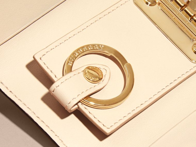 Grainy Leather Key Holder in Limestone - Women | Burberry Singapore - cell image 1