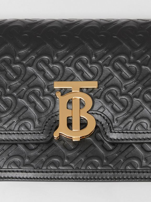 Small Monogram Leather TB Bag in Black - Women | Burberry - cell image 1