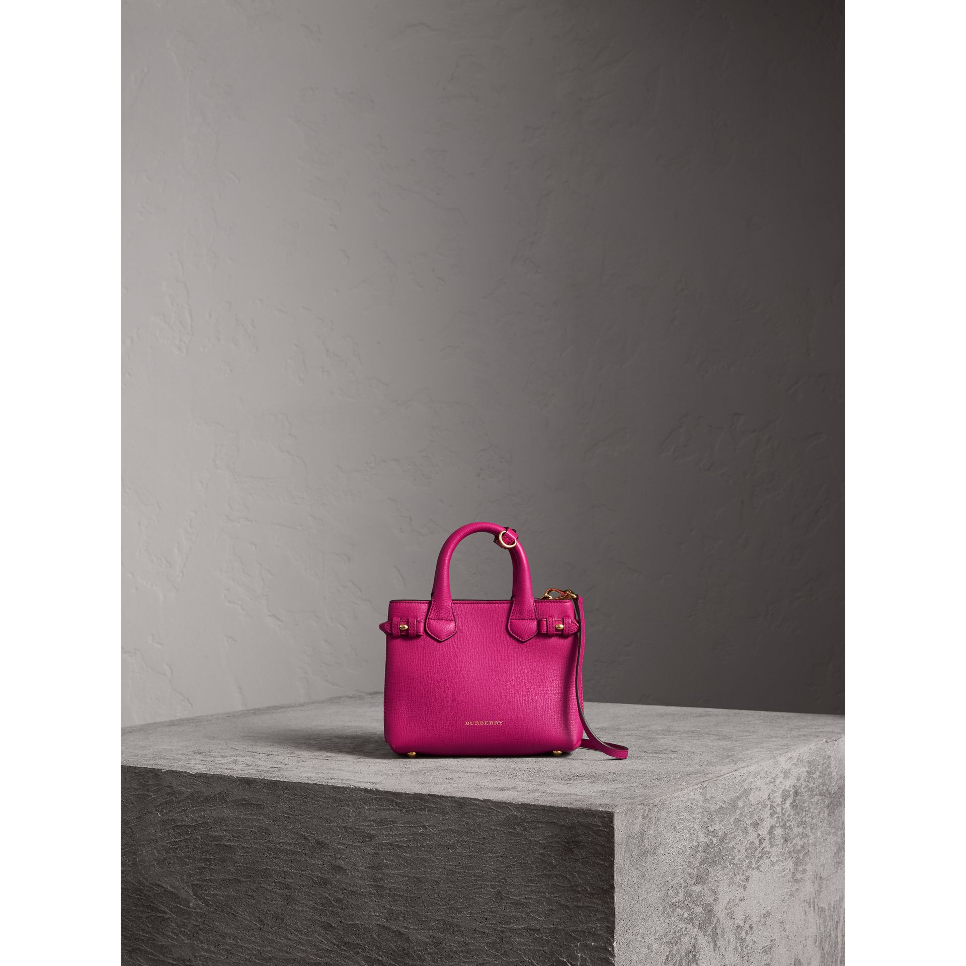 The Baby Banner in Leather and House Check in Brilliant Fuchsia - Women | Burberry - gallery image 7