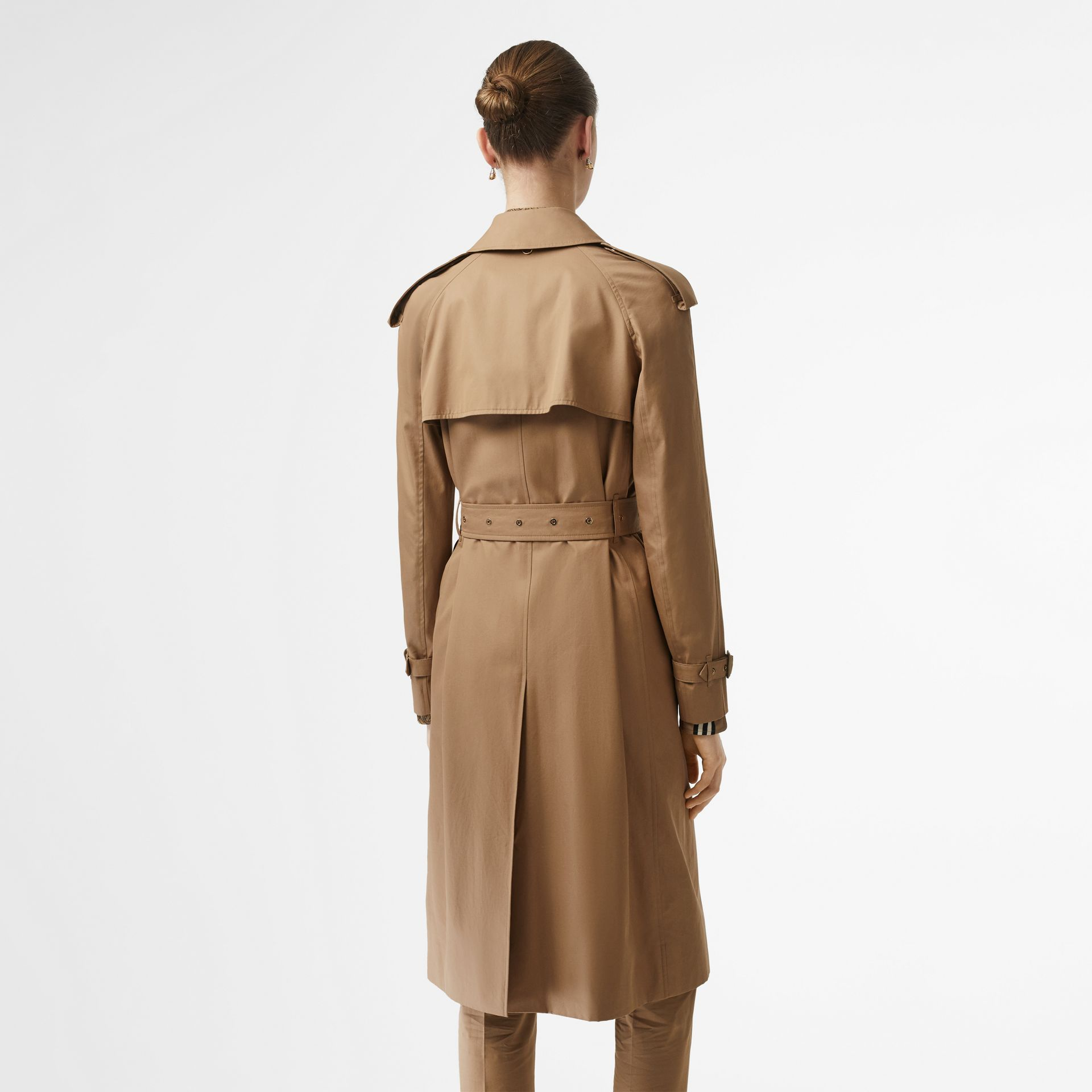 Press-stud Detail Cotton Gabardine Trench Coat in Driftwood - Women | Burberry Singapore - gallery image 2