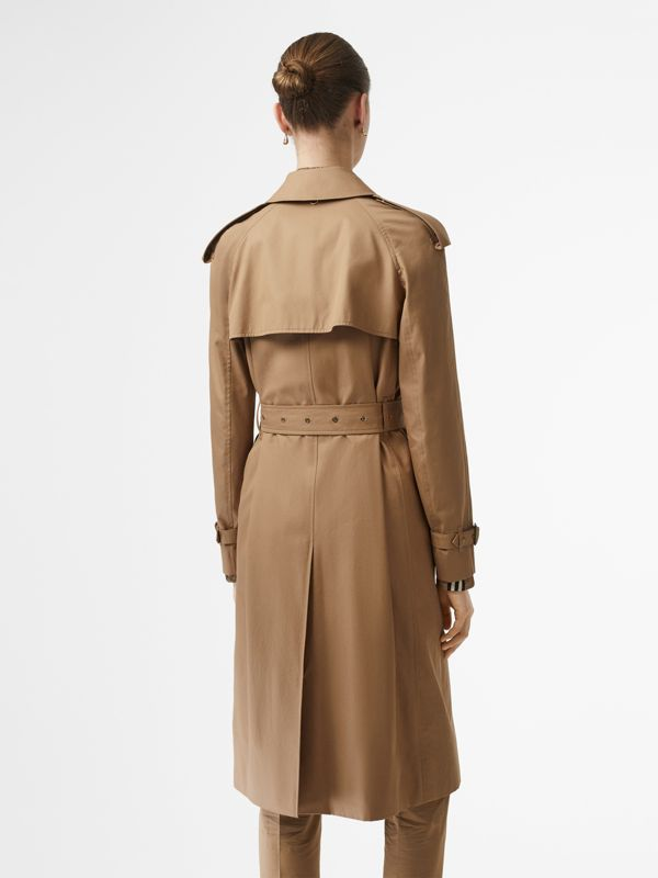 Press-stud Detail Cotton Gabardine Trench Coat in Driftwood - Women | Burberry - cell image 2