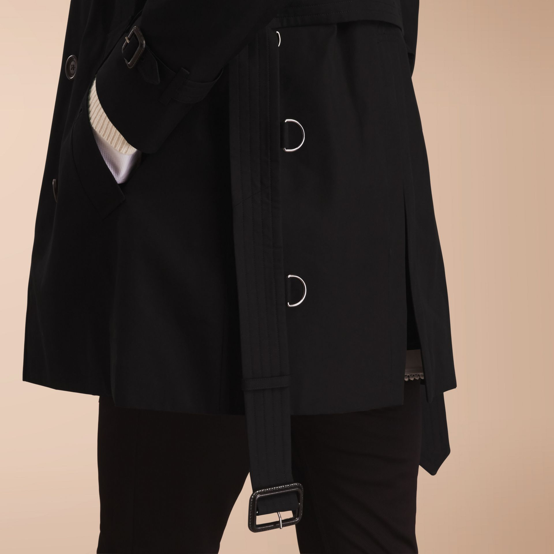 The Kensington – Mid-Length Heritage Trench Coat in Black - gallery image 6