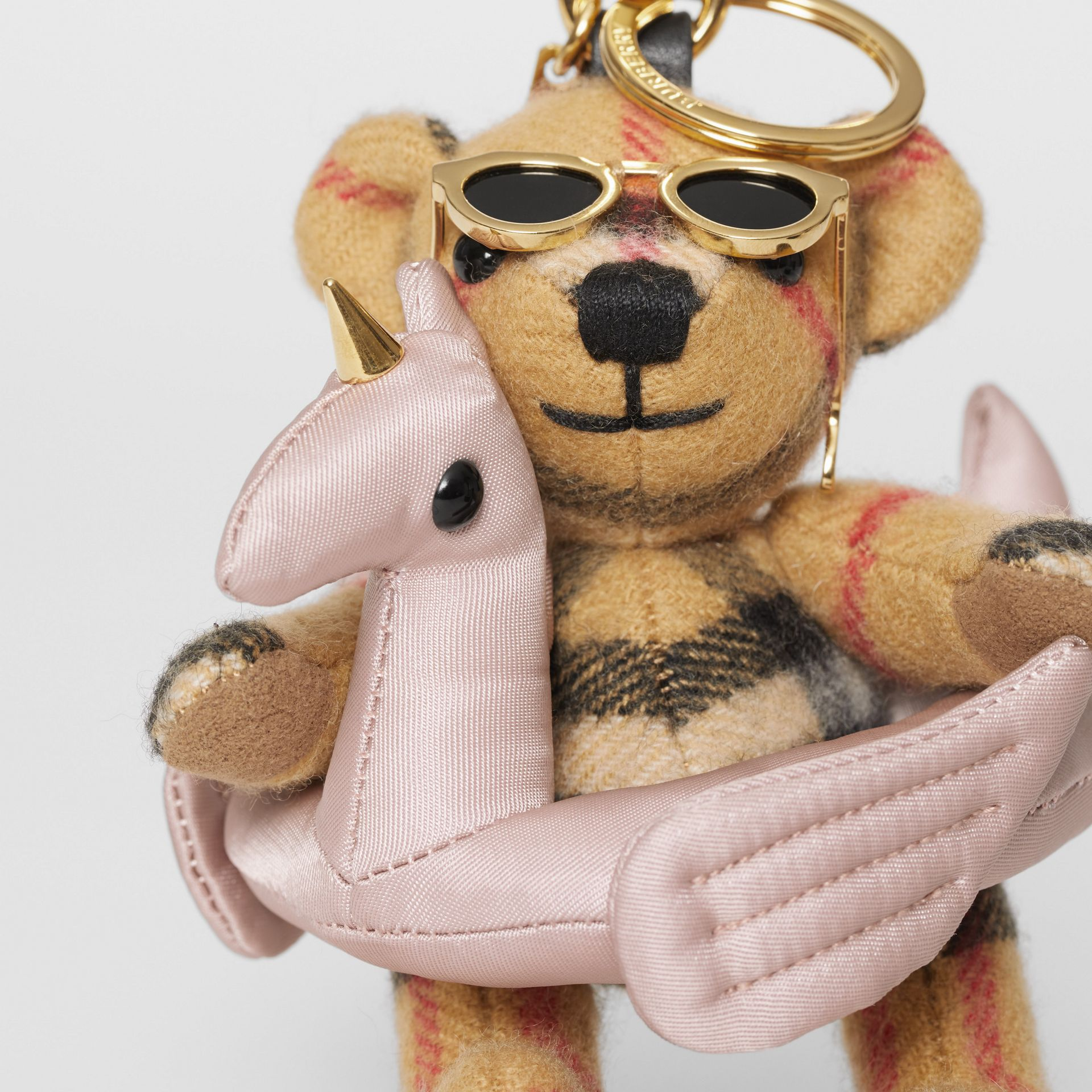 Thomas Bear Charm in Pool Float in Antique Yellow - Women | Burberry - gallery image 1