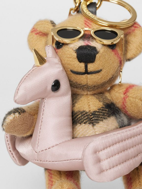 Thomas Bear Charm in Pool Float in Antique Yellow - Women | Burberry - cell image 1