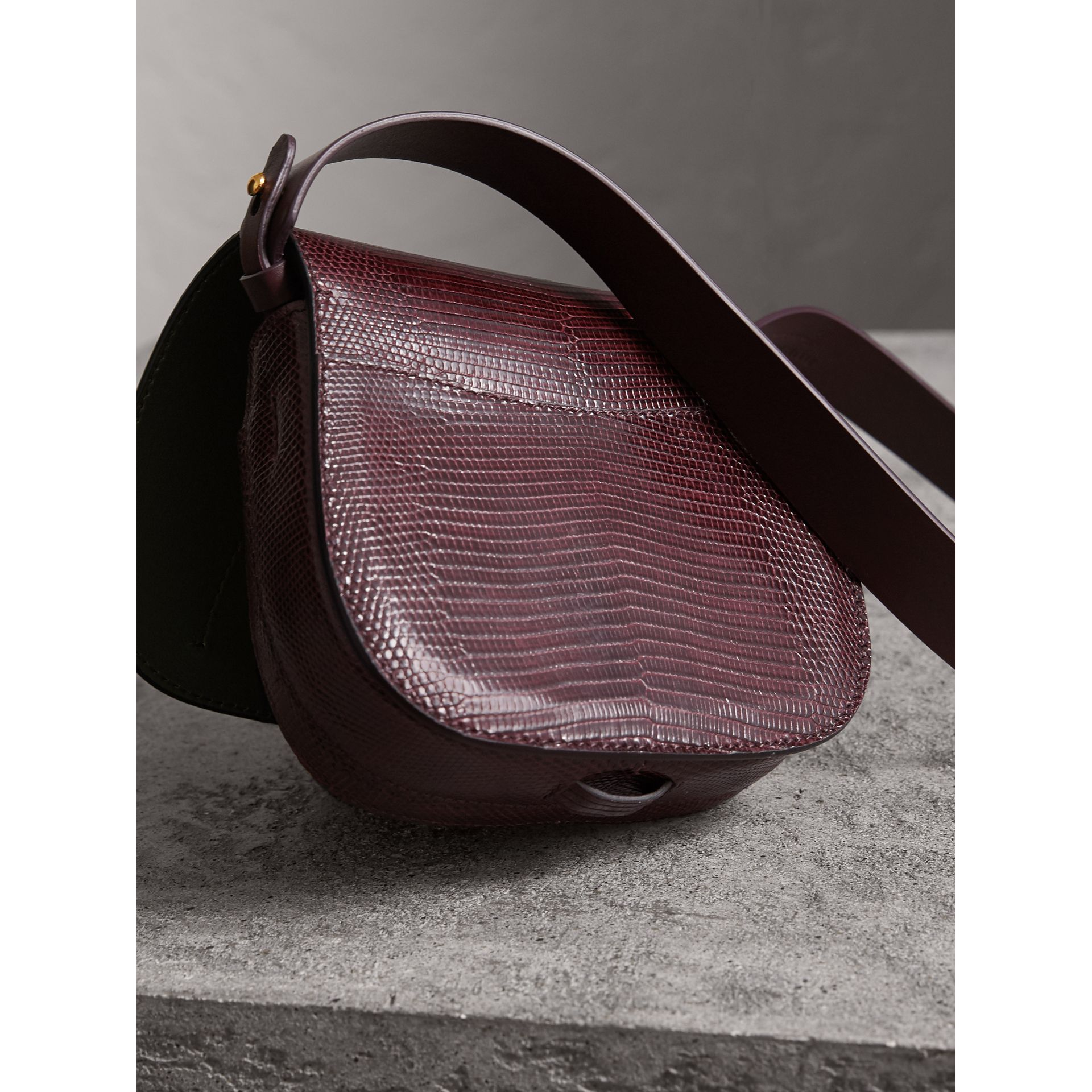 The Satchel in Lizard in Dark Mahogany - Women | Burberry United Kingdom - gallery image 4