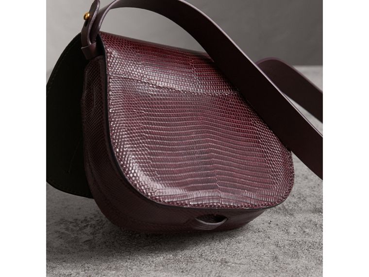 The Satchel in Lizard in Dark Mahogany - Women | Burberry Australia - cell image 4