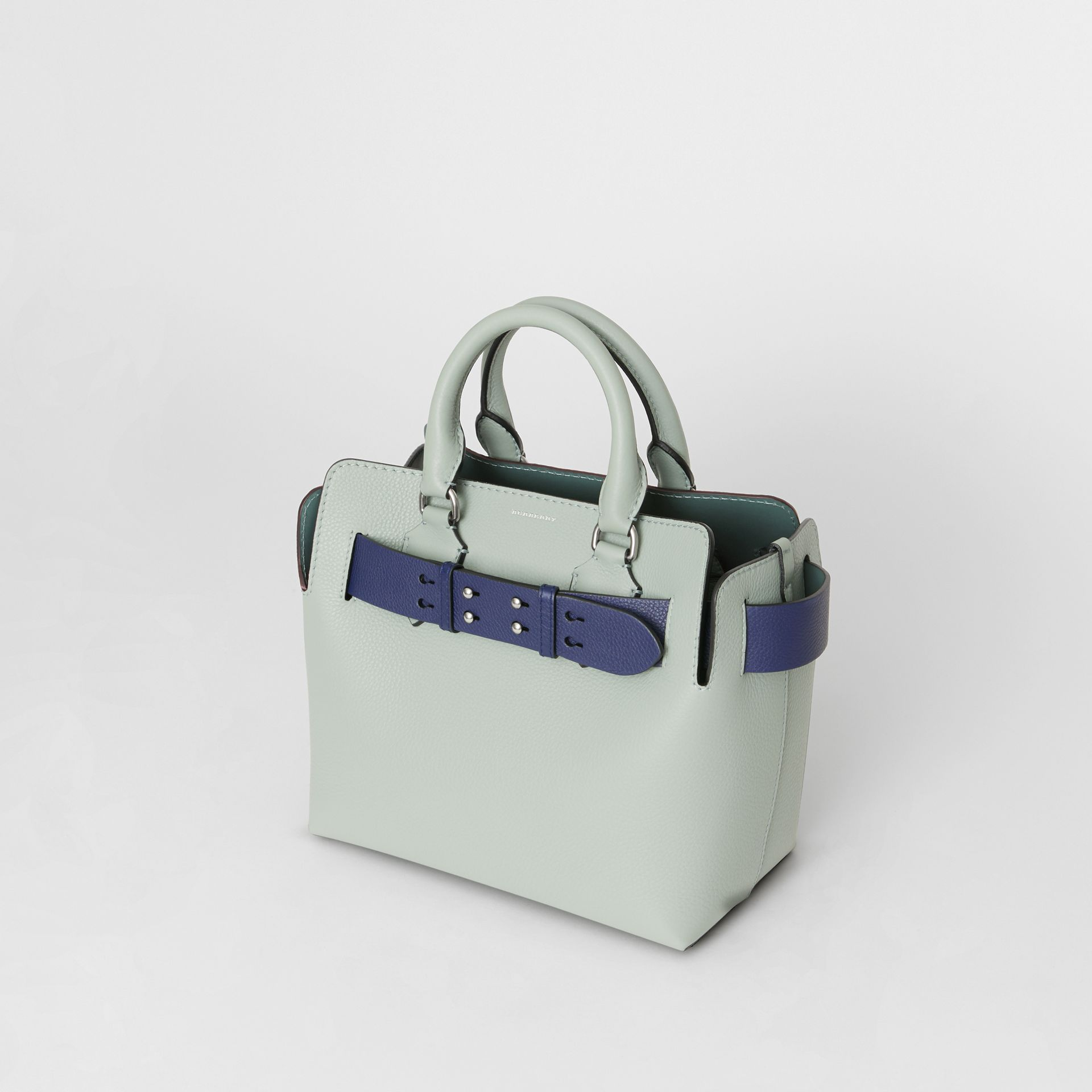 The Small Leather Belt Bag in Grey Blue - Women | Burberry - gallery image 4