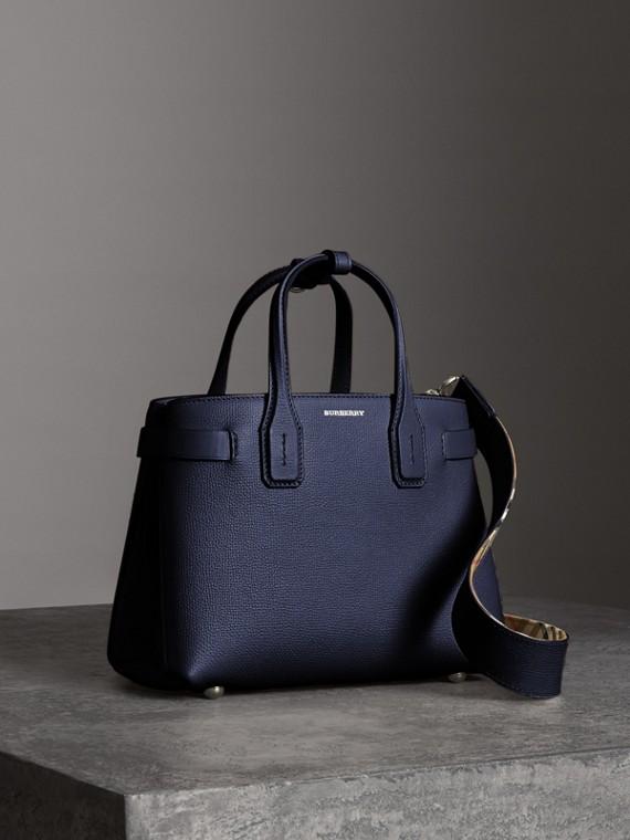 Petit sac TheBanner en cuir (Bleu Régence)
