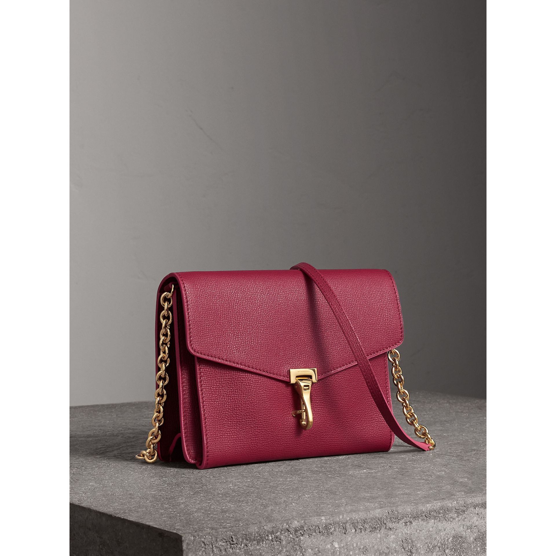 Small Grainy Leather Crossbody Bag in Berry Pink - Women | Burberry - gallery image 5