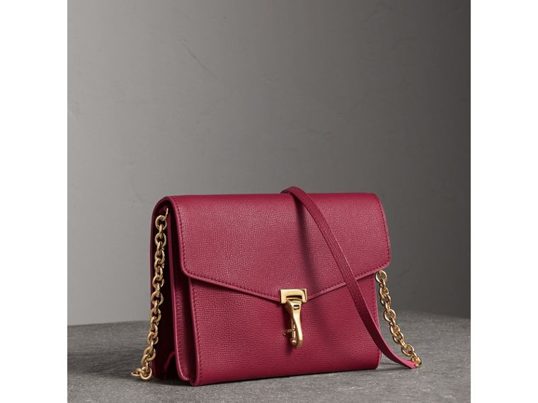 Small Grainy Leather Crossbody Bag in Berry Pink - Women | Burberry - cell image 4