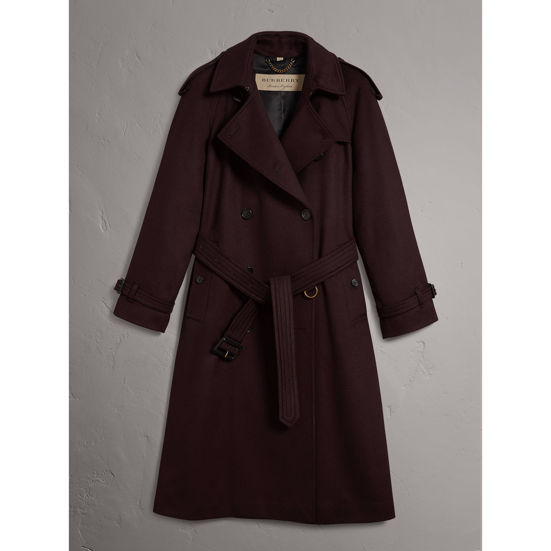 Cashmere Trench Coat in Blackcurrant - Women | Burberry Hong Kong - gallery image 4