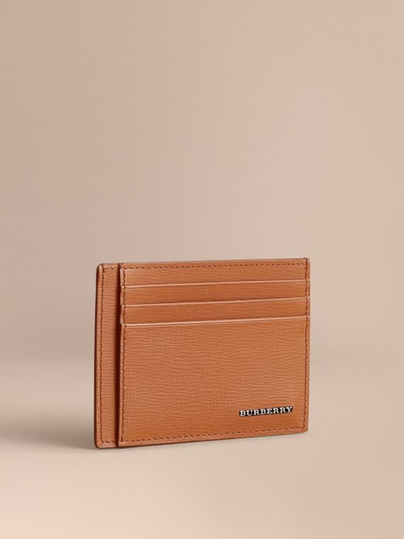 London Leather Card Case in Tan | Burberry