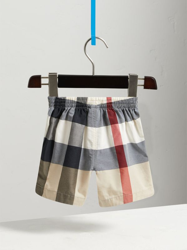 Check Technical Cotton Swim Shorts in New Classic - Children | Burberry - cell image 3