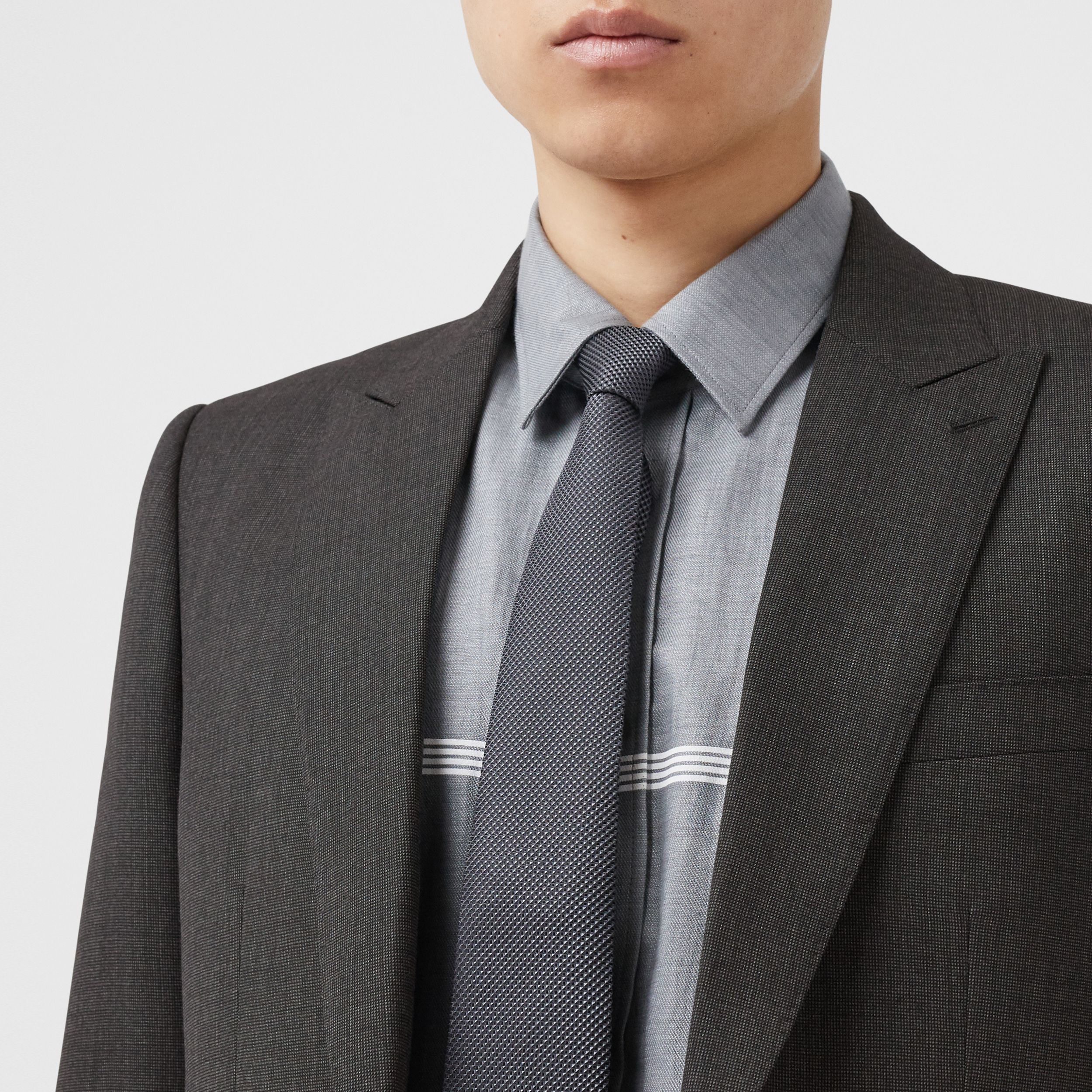 Classic Fit Broken Wool Twill Suit in Mid Grey - Men | Burberry - 2
