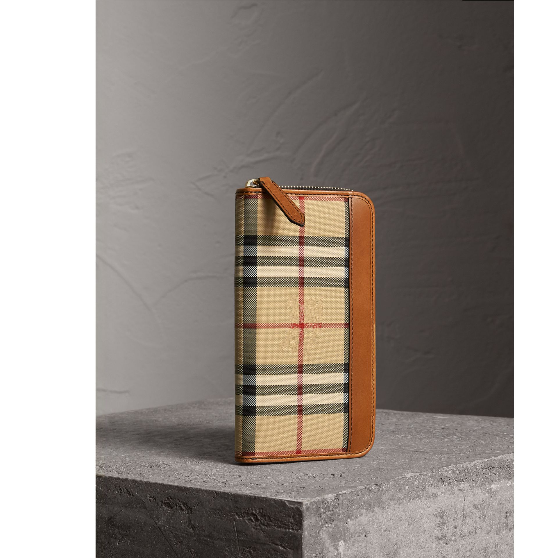 Horseferry Check Ziparound Wallet in Tan - Men | Burberry - gallery image 1
