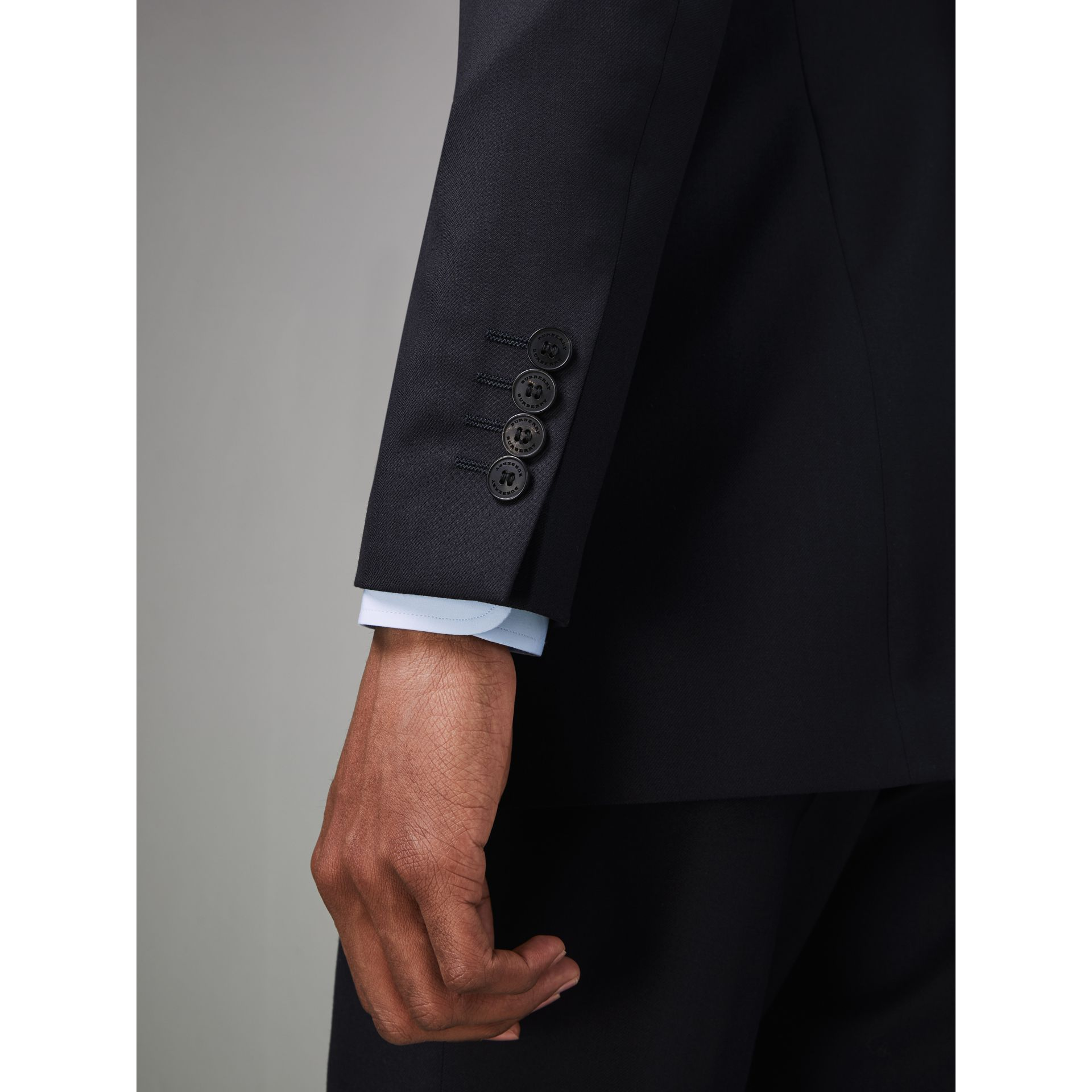 Modern Fit Wool Twill Suit in Navy - Men | Burberry - gallery image 4