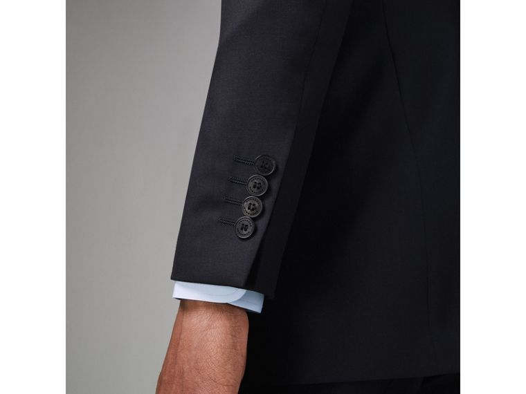 Modern Fit Wool Twill Suit in Navy - Men | Burberry - cell image 4